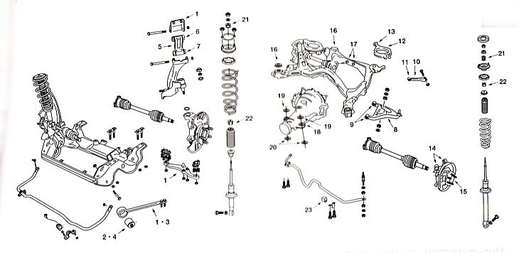 nissan skyline front suspension diagram