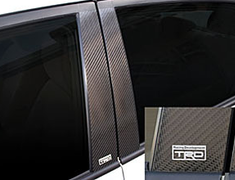 TRD - Carbon Pillar Garnish Set