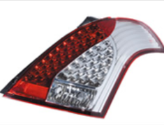 Valenti - Jewel Tail Lamp - Half Red/Chrome