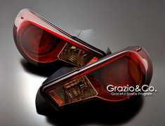 Colored Tail Lens Red &amp; Black Crystal