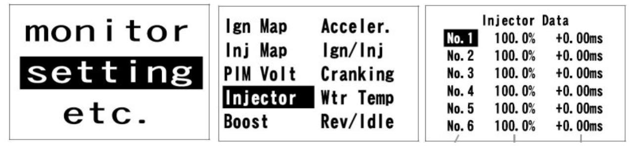 PowerFC - Injectors