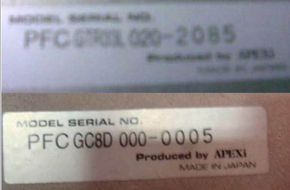 PowerFC - Serial Number
