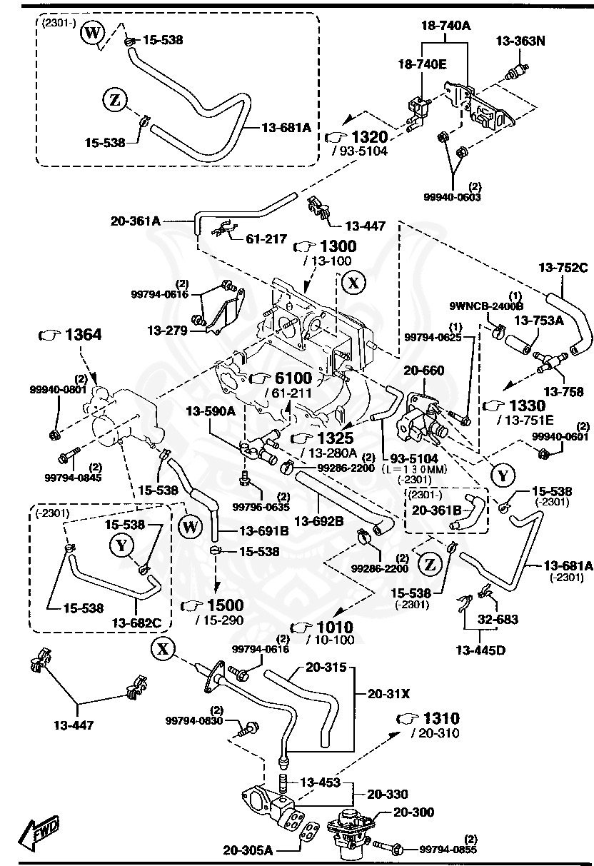 2301 honda h engine diagram 999400601 mazda flange nut nengun performance  999400601 mazda flange nut nengun