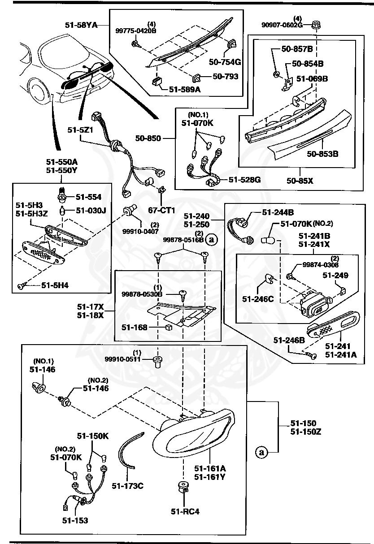 Mazda - Grommet Screw