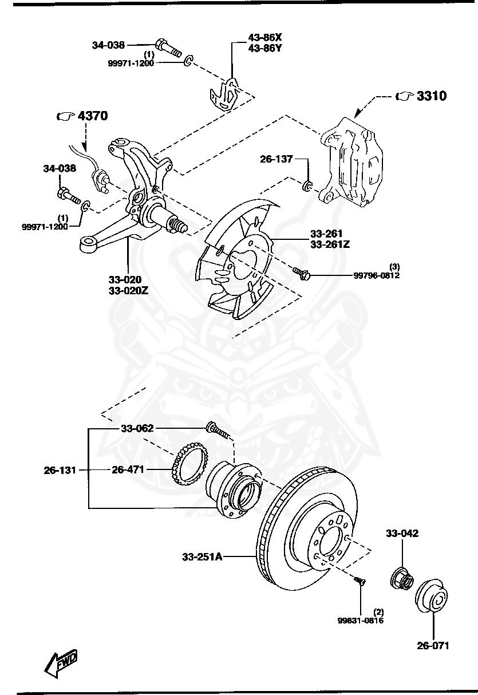 Mazda - Flange Bolt