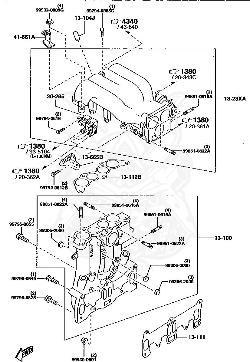 Mazda - Flange Nut