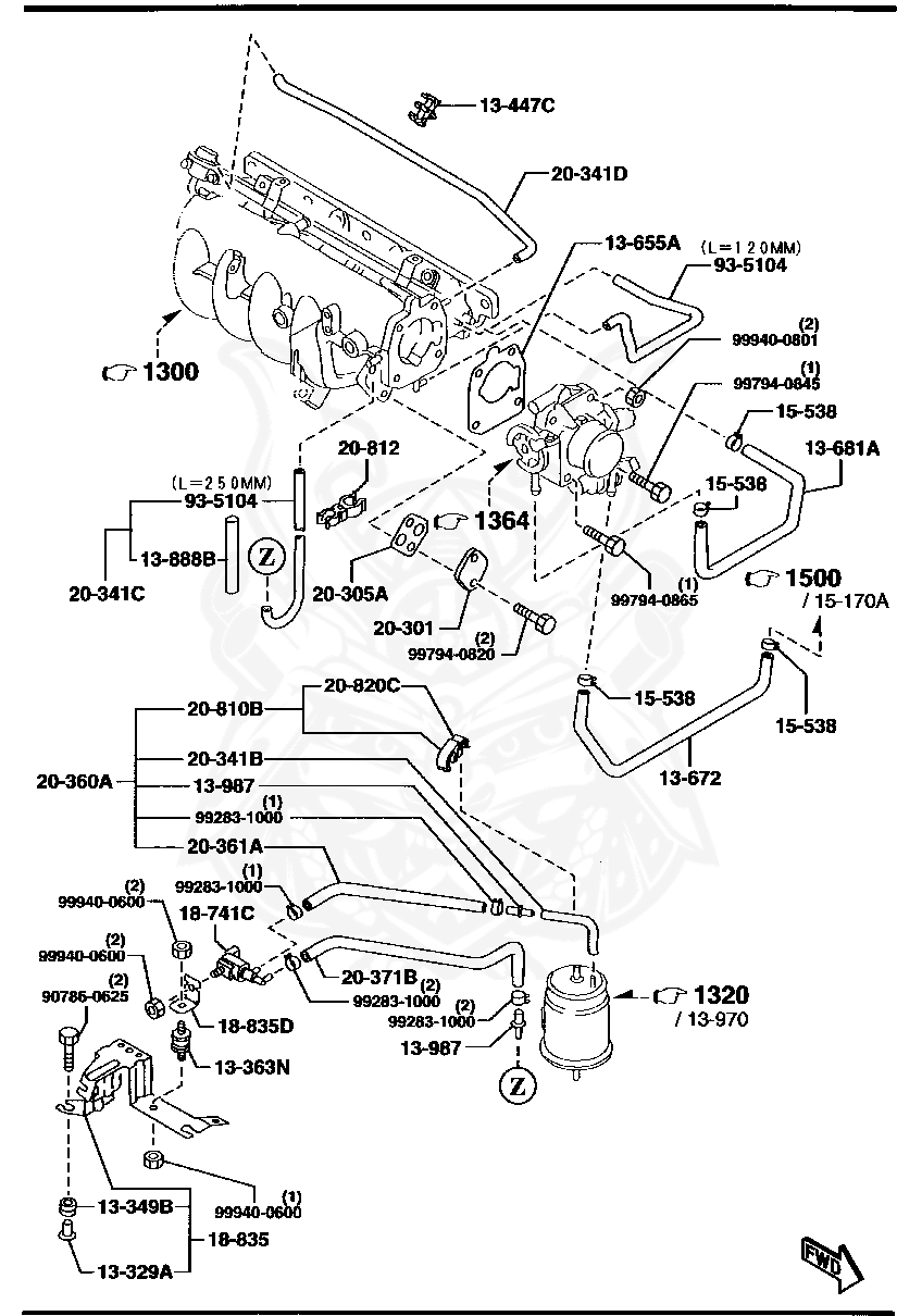 Diagram 2006 Mazda 3 On 2000 Mazda Mpv Engine Transmission Mount