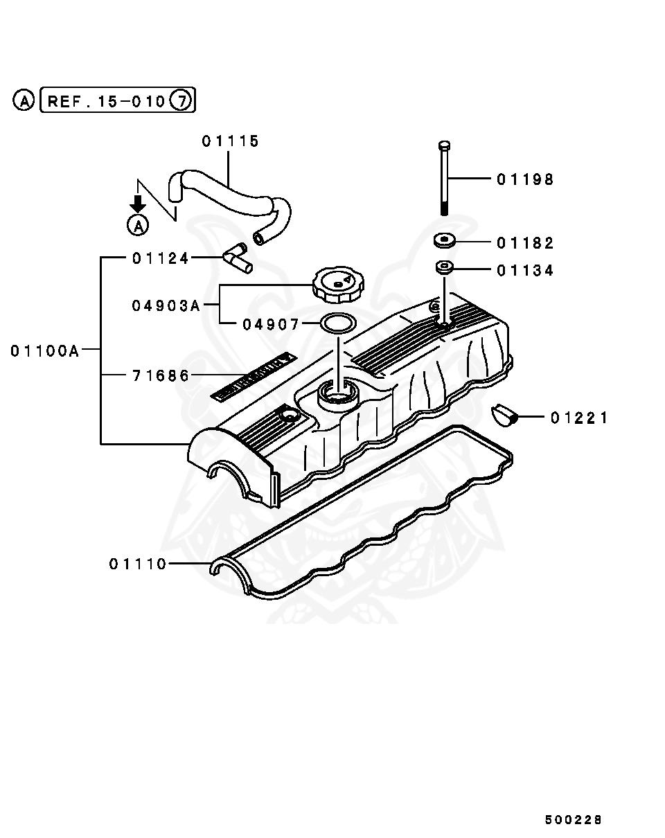 Mitsubishi - Seal, Cylinder Head Camshaft End