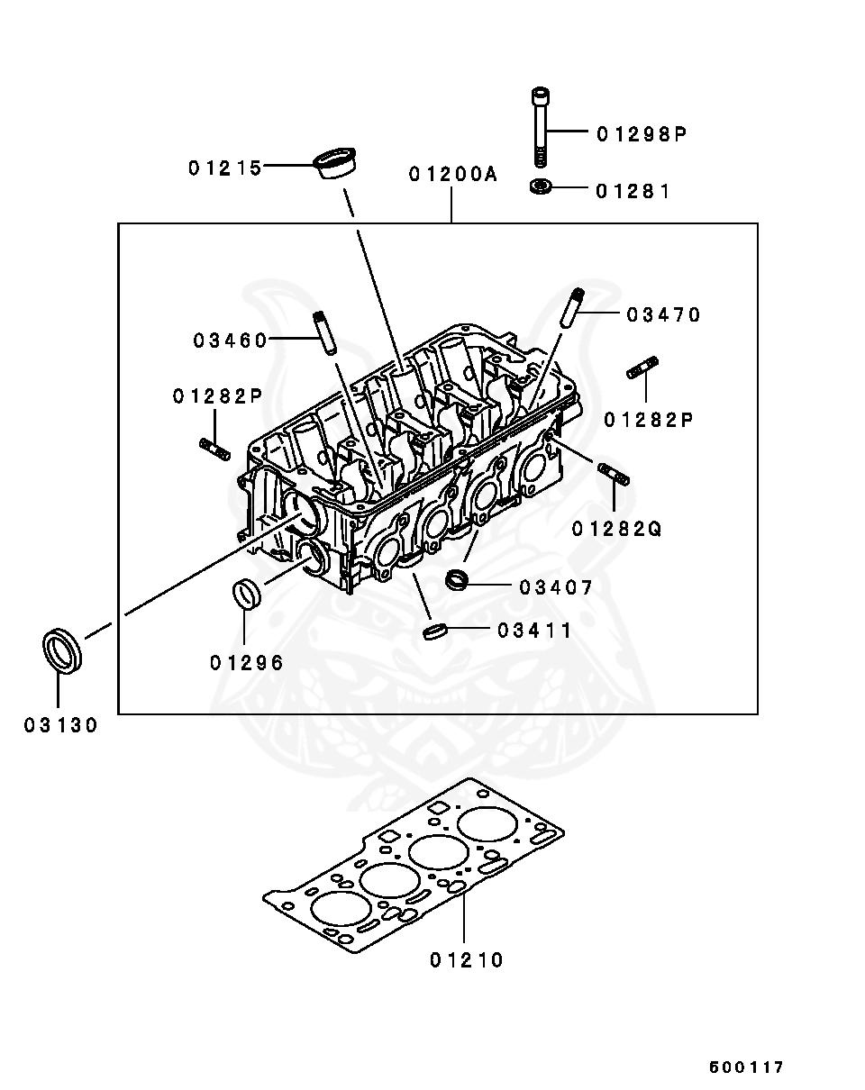 Mitsubishi - Seal, Cylinder Head Spark Plug Guide