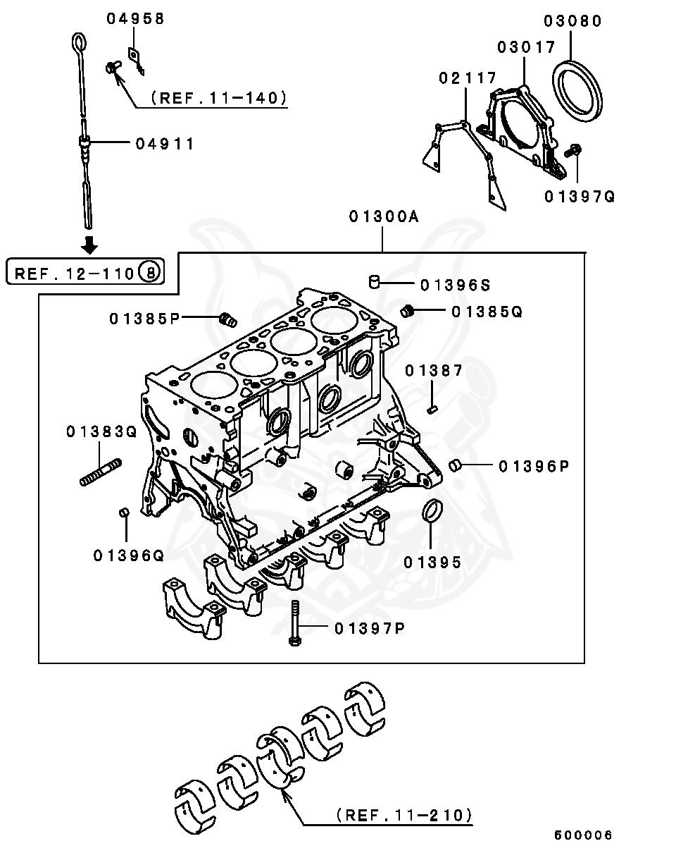 Mitsubishi - Bushing, Cylinder Block