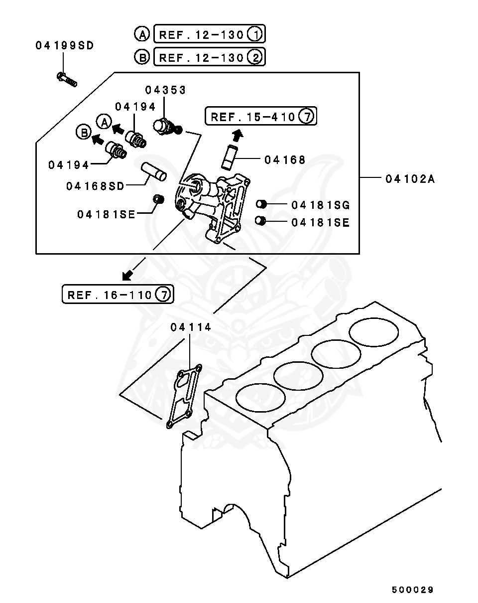 20v w diesel engine diagram md145018 mitsubishi plug  cylinder head nengun performance  mitsubishi plug  cylinder head