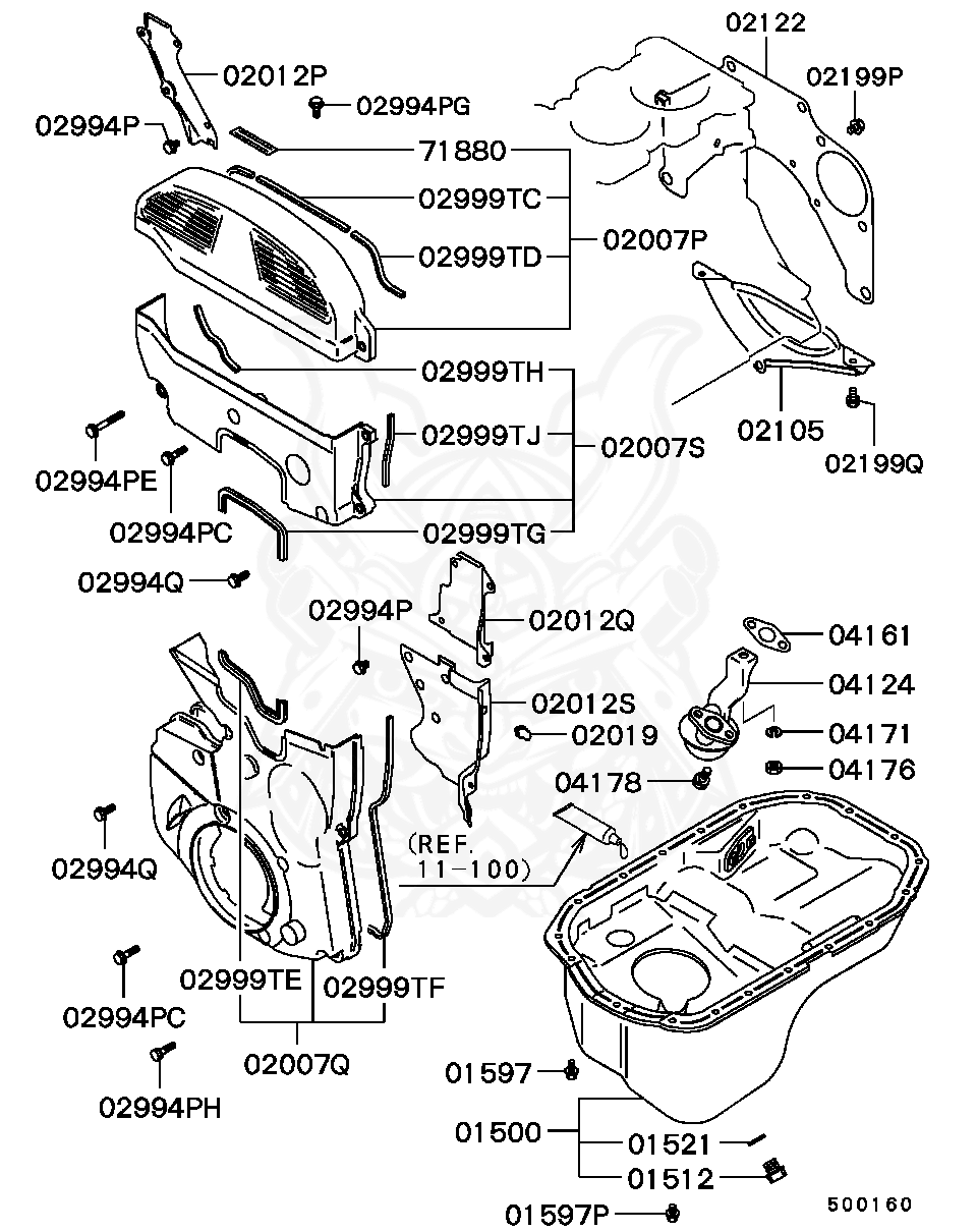 Mitsubishi - Bolt, Timing Belt Cover