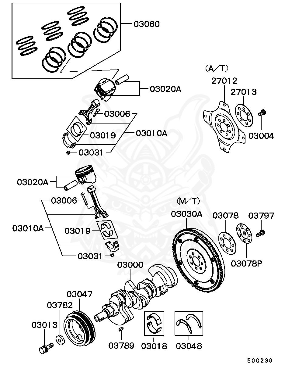 Mitsubishi - Washer, Crankshaft Pulley