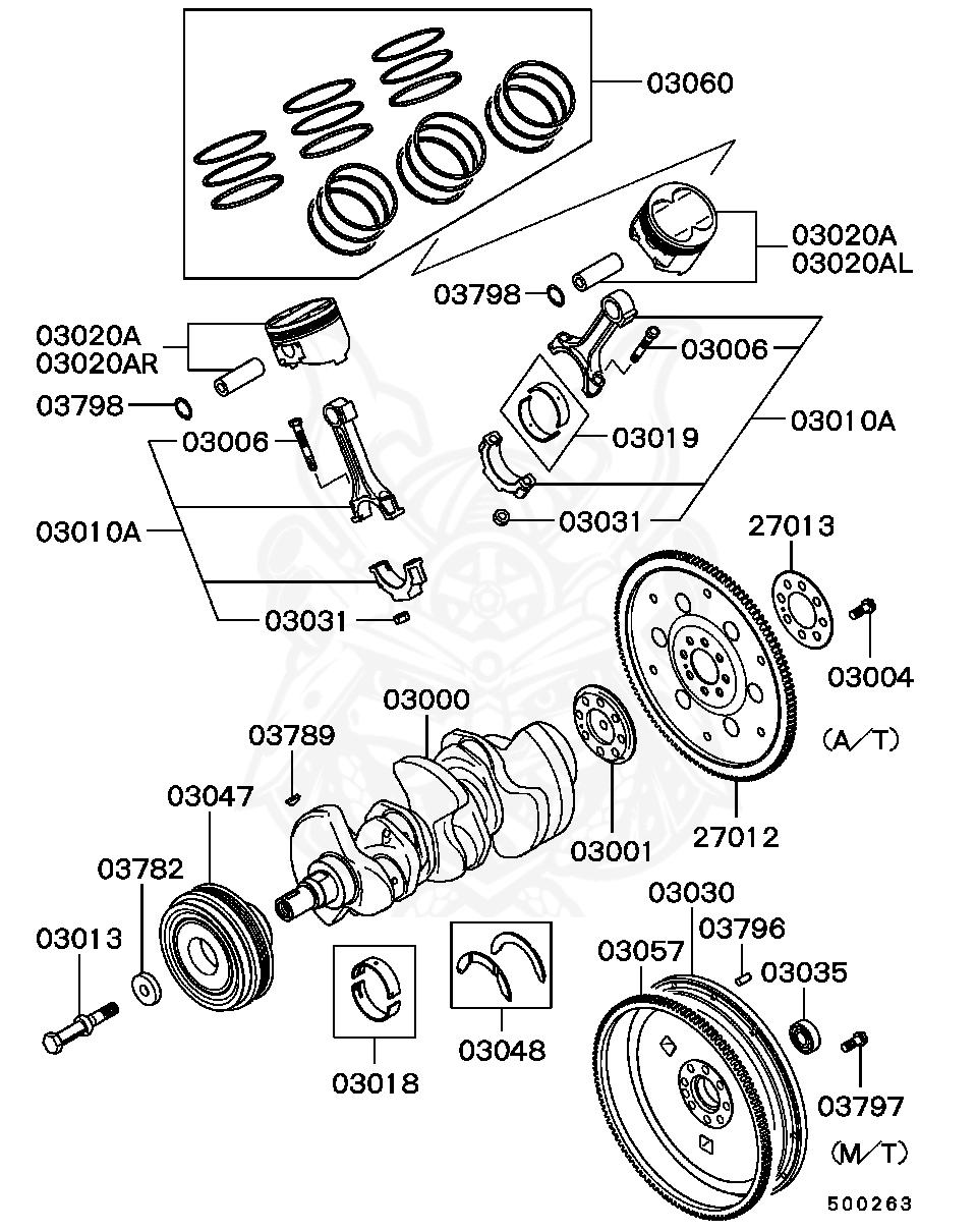 Mitsubishi - Bolt, A / T Drive Plate