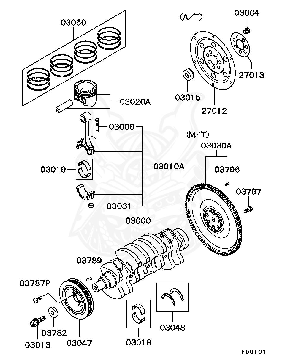 Mitsubishi - Pin, Flywheel
