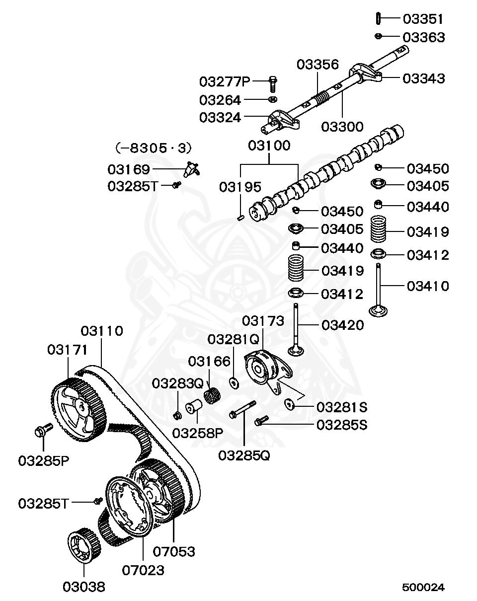 MD050148 Genuine Mitsubishi SPROCKET,CRANK CAM DRIVE