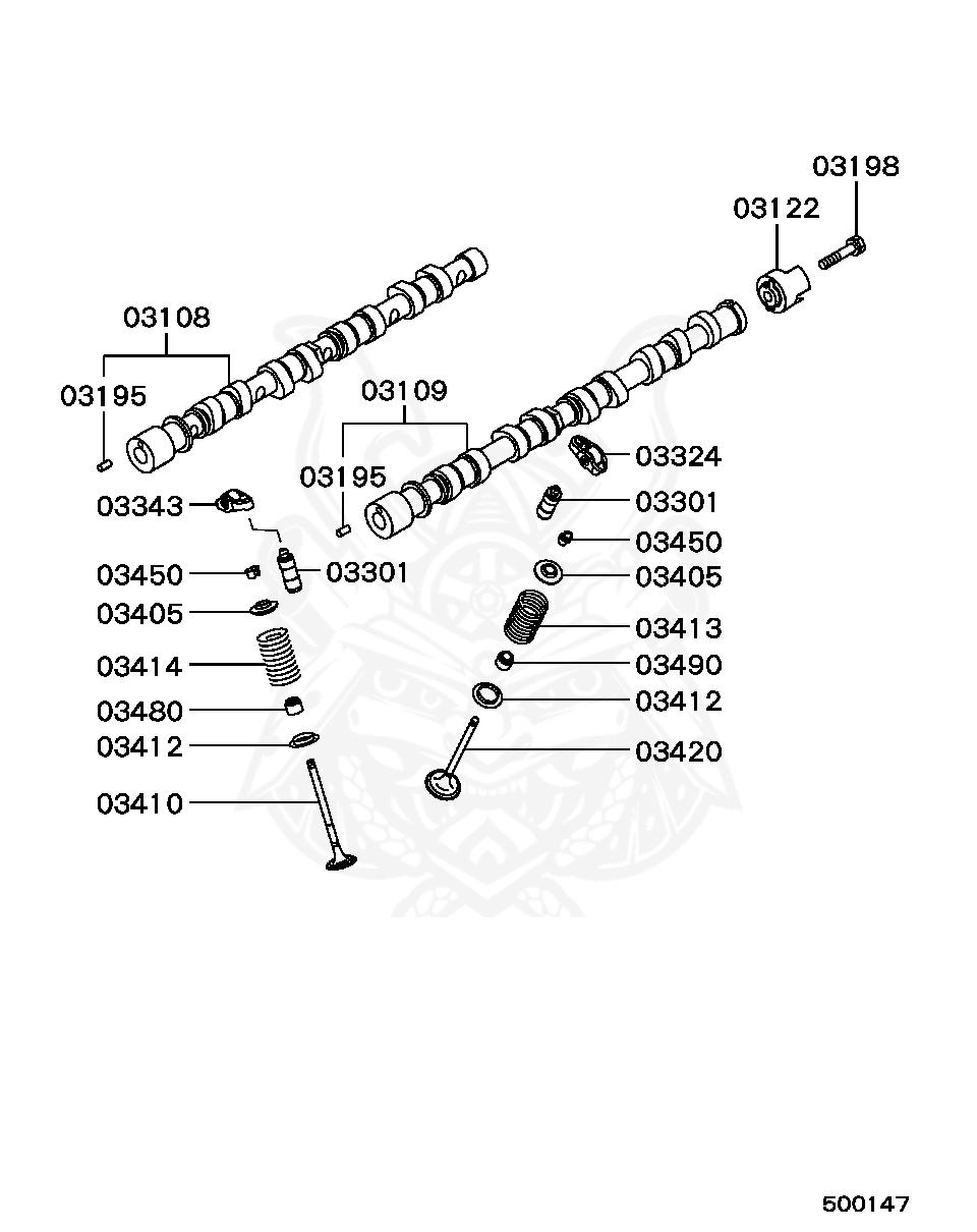Mitsubishi - Lock, Valve Spring Retainer