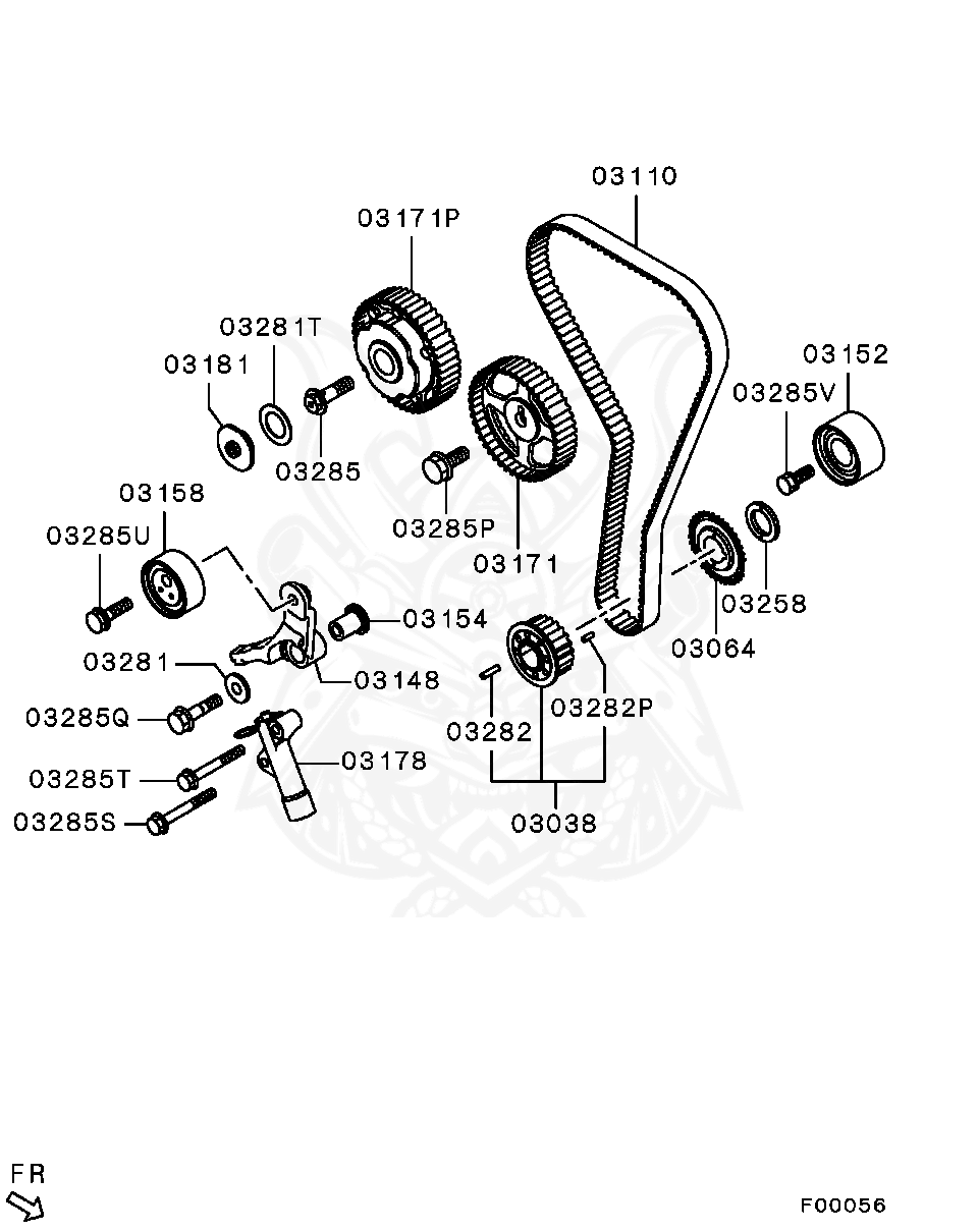 Mitsubishi - Bolt, Timing Belt Train