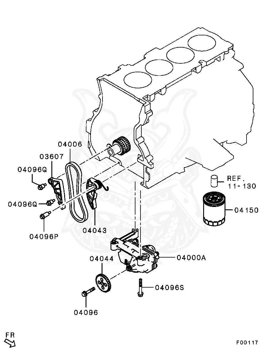 mn183898 - mitsubishi - tensioner,eng oil pump chain - nengun performance  nengun performance