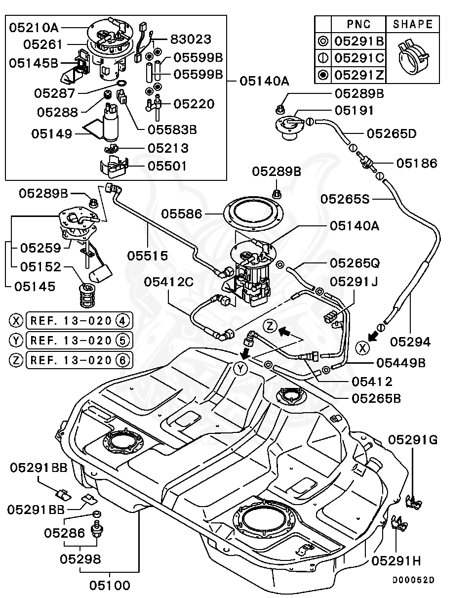 New *OEM QUALITY* Fuel Pump Electric Intank For MITSUBISHI LANCER CJ 4D H//B...
