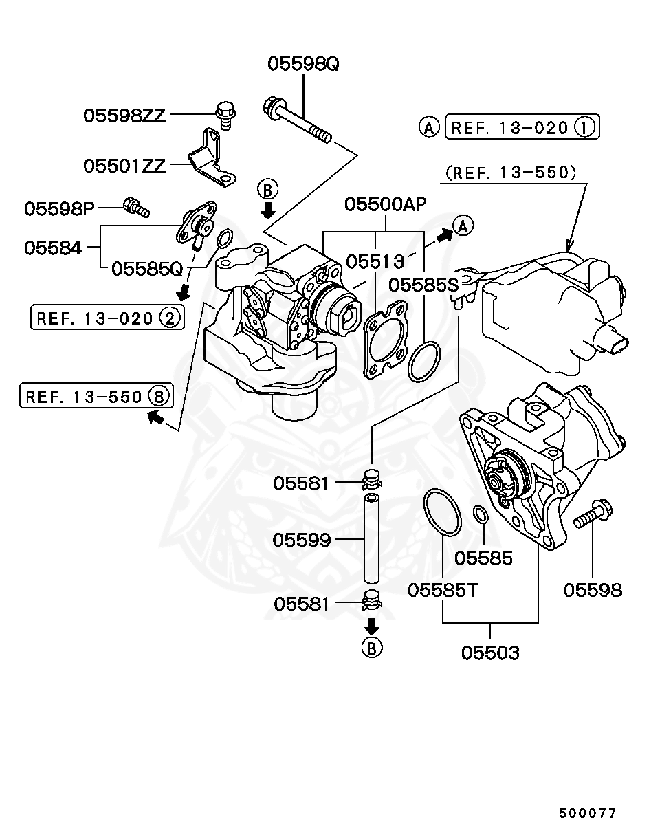 Mitsubishi - O-ring, Fuel Injector Delivery Line