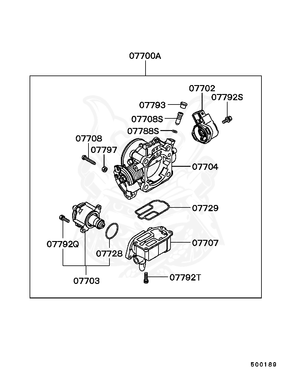 Mitsubishi - Adjusting Screw, Throttle Body Speed