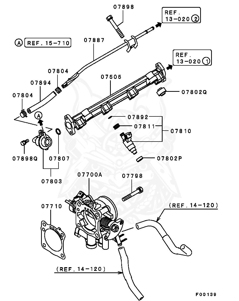 Mitsubishi - Sheet, Fuel Injector