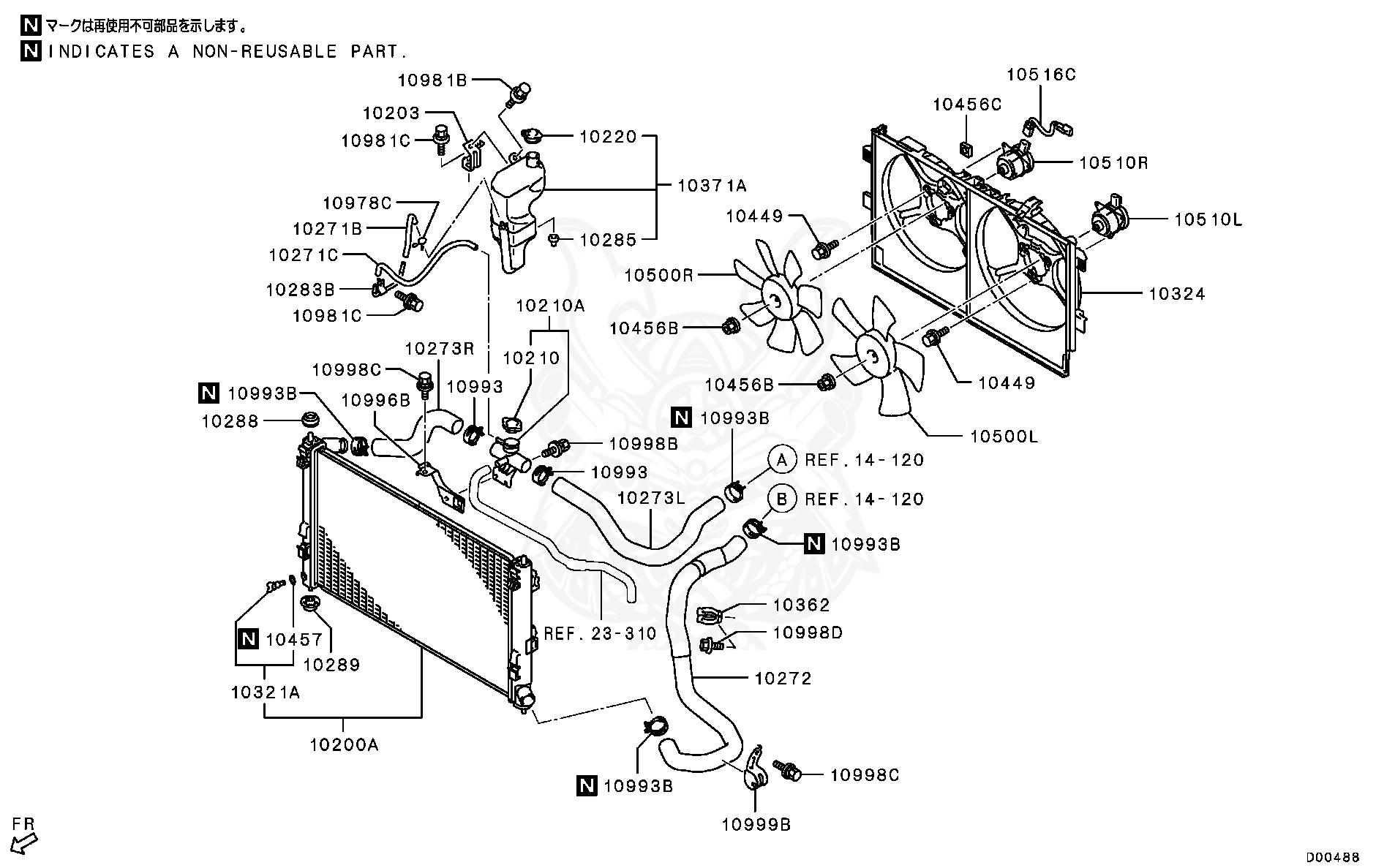 Mitsubishi - Plug Assy, Radiator