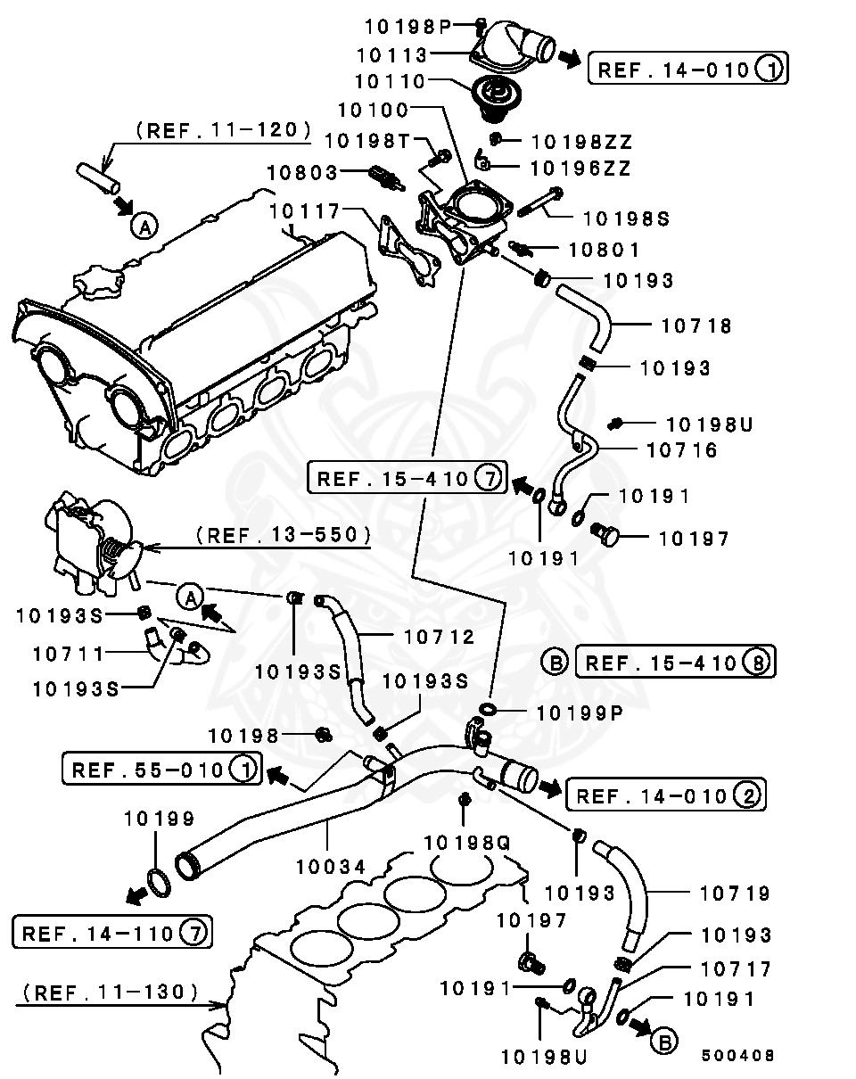 Mitsubishi - O-ring, Cooling Water Line