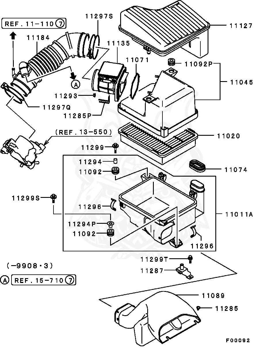 Mitsubishi - Clip, Air Cleaner