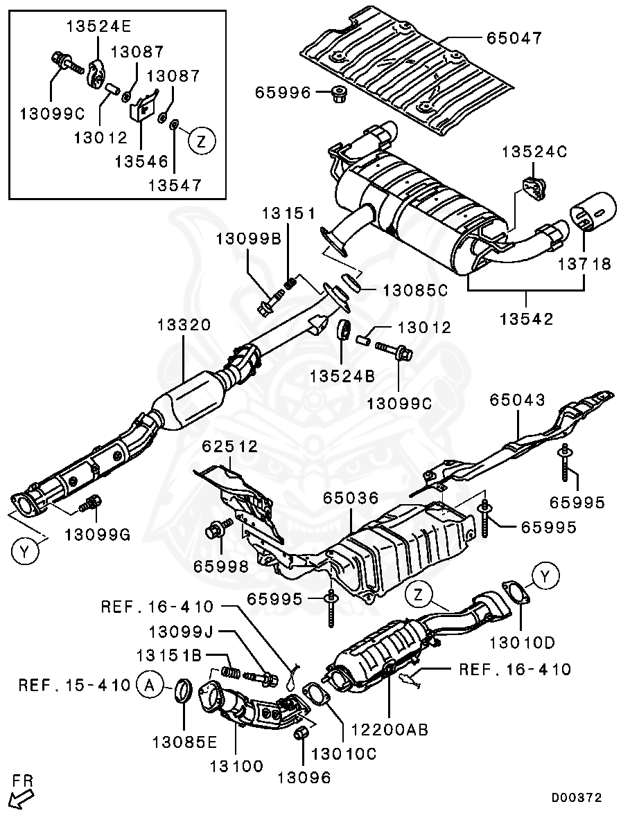 Mitsubishi - Bolt, Exhaust Pipe