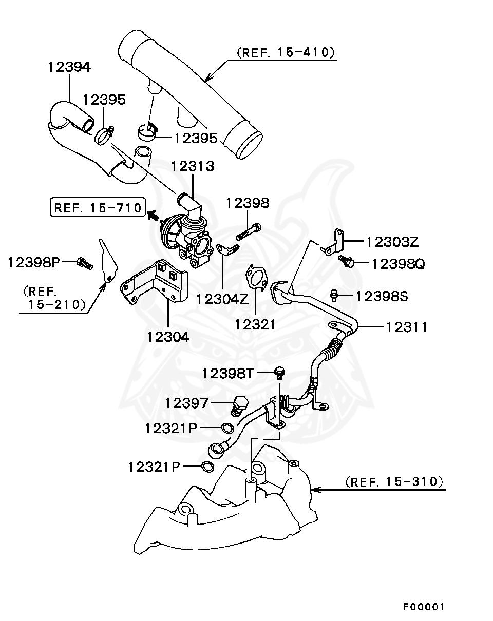 Mitsubishi - Bolt, Secondary Air Supply