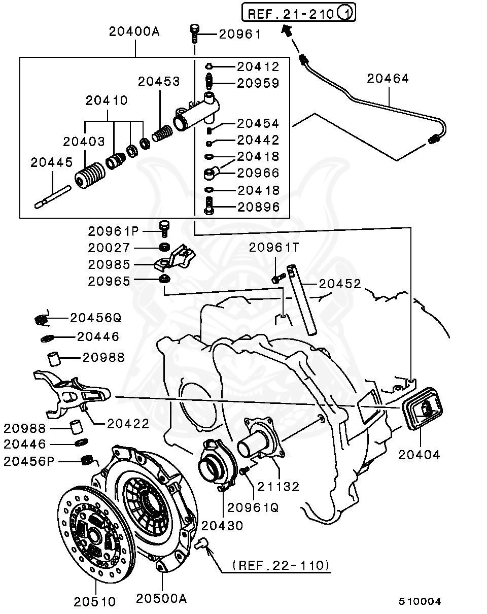 Mitsubishi - Boot, Clutch Release Cylinder