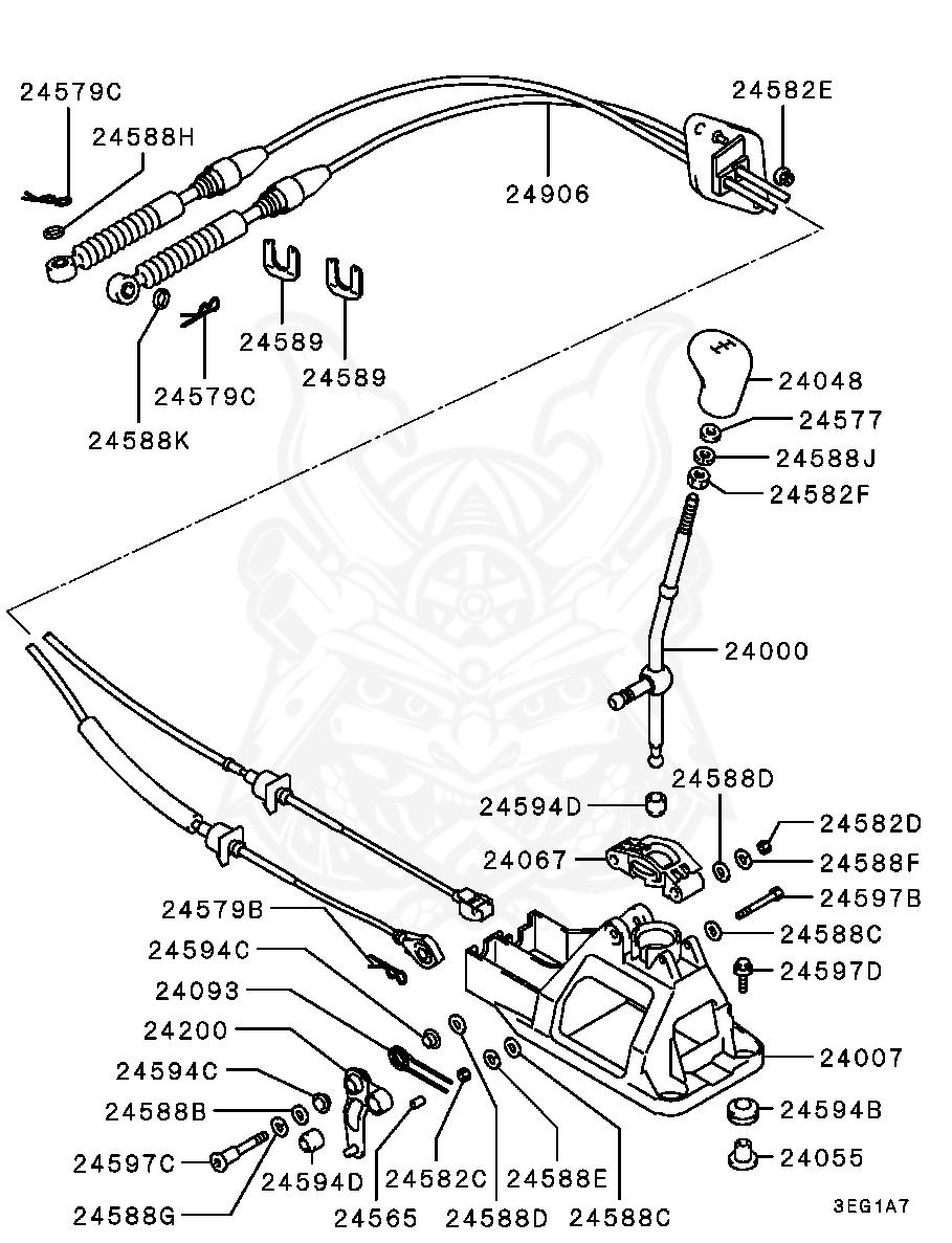 Mitsubishi - Bushing, Gearshift Link