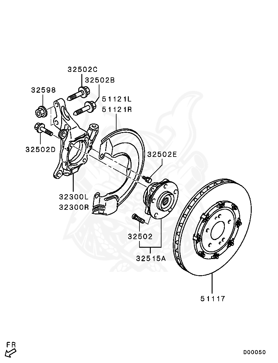 Mitsubishi - Bolt, Fr Wheel Hub