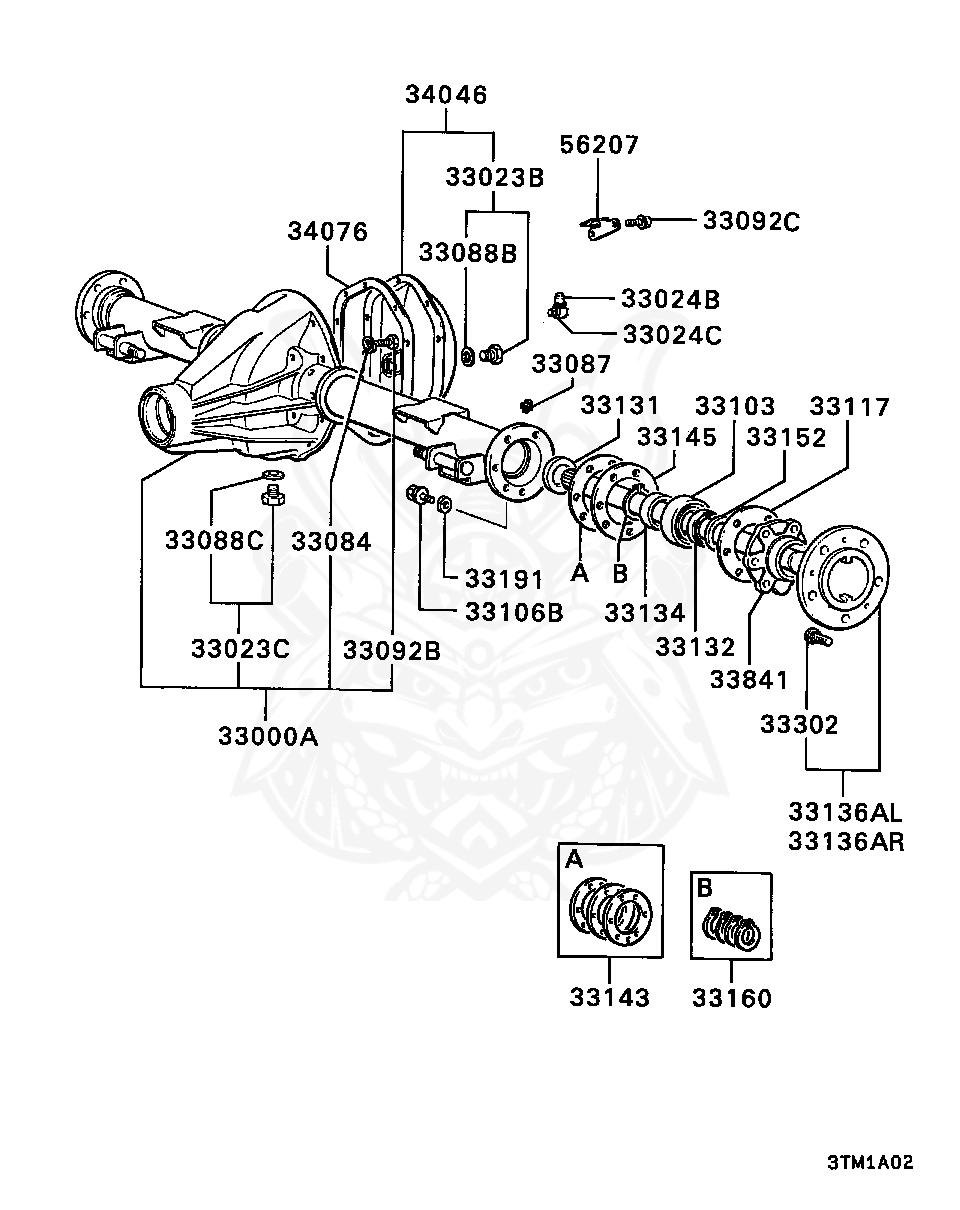 Mitsubishi - Plug Kit, Rr Diff