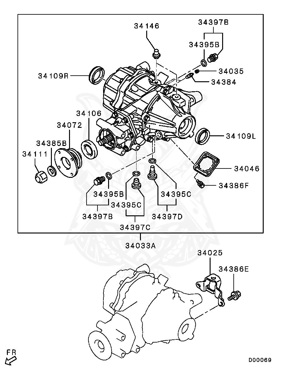 Mitsubishi - Bolt, Rr Diff