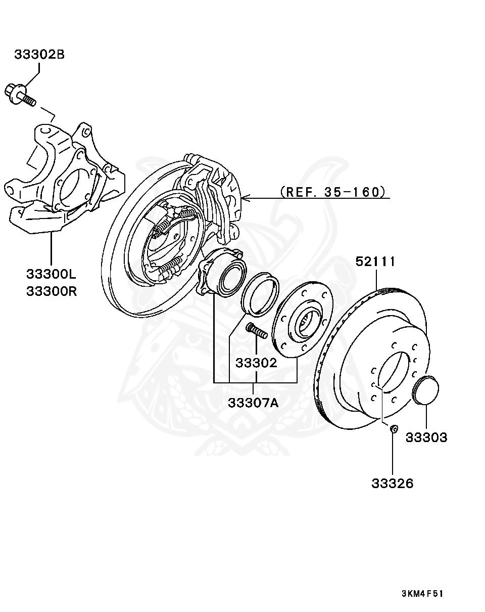 Mitsubishi - Plug, Rr Wheel Hub