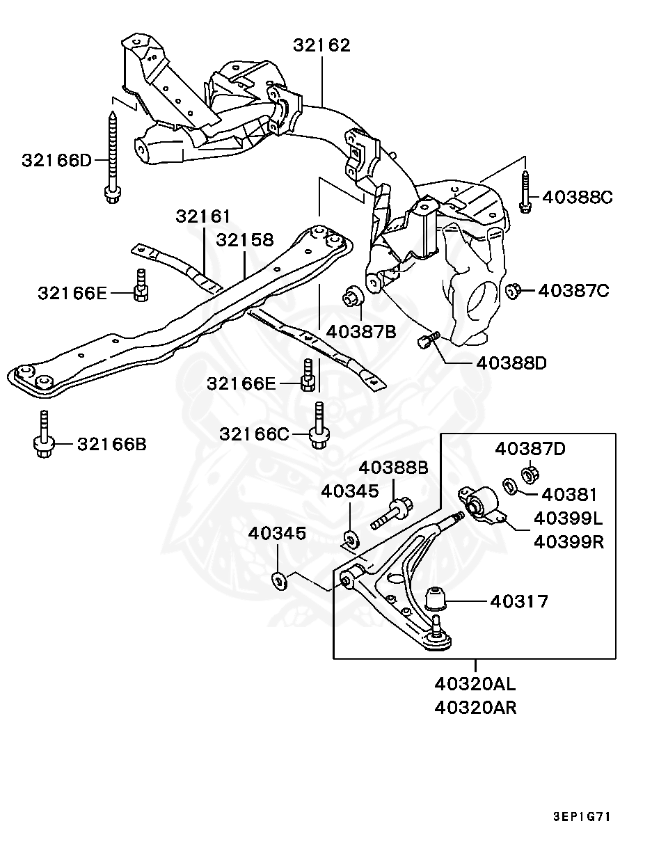 Mitsubishi - Bolt, Rr Susp Upr Arm