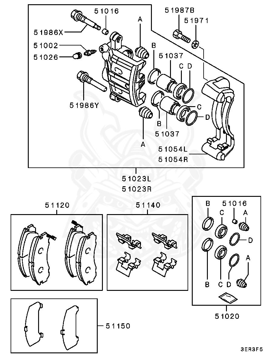 Mitsubishi - Washer, Steering Wheel