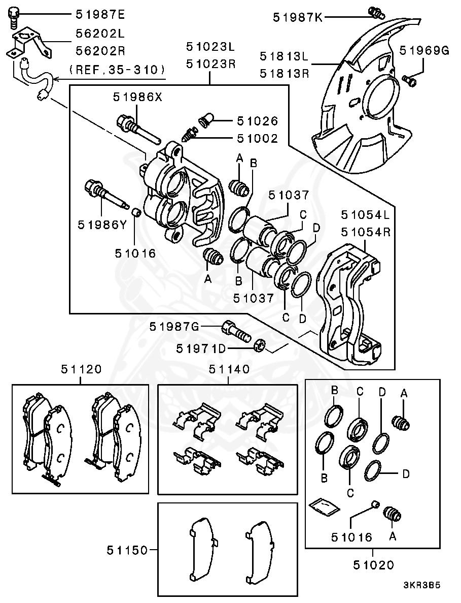 Mitsubishi - Pad Set, Fr Brake