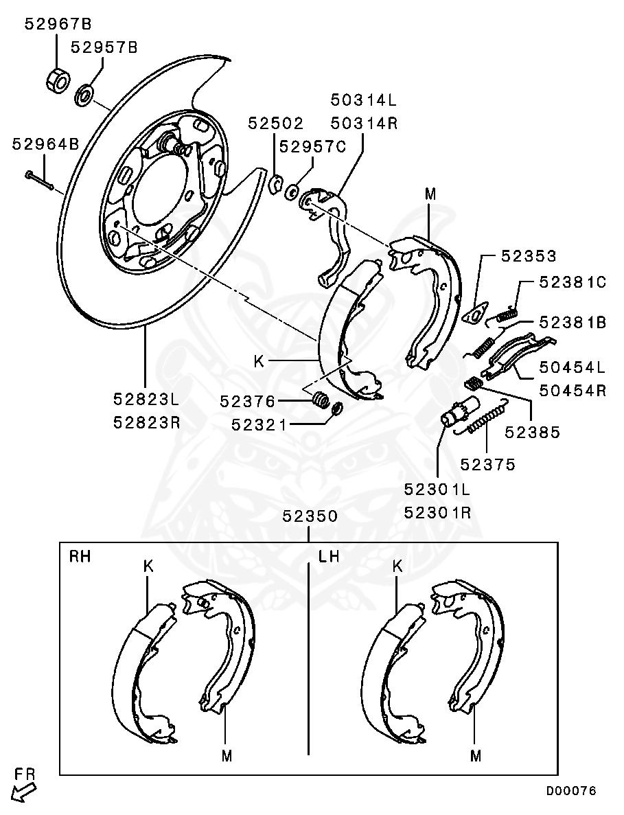 Mitsubishi - Spring, Rr Brake Shoe Hold-down