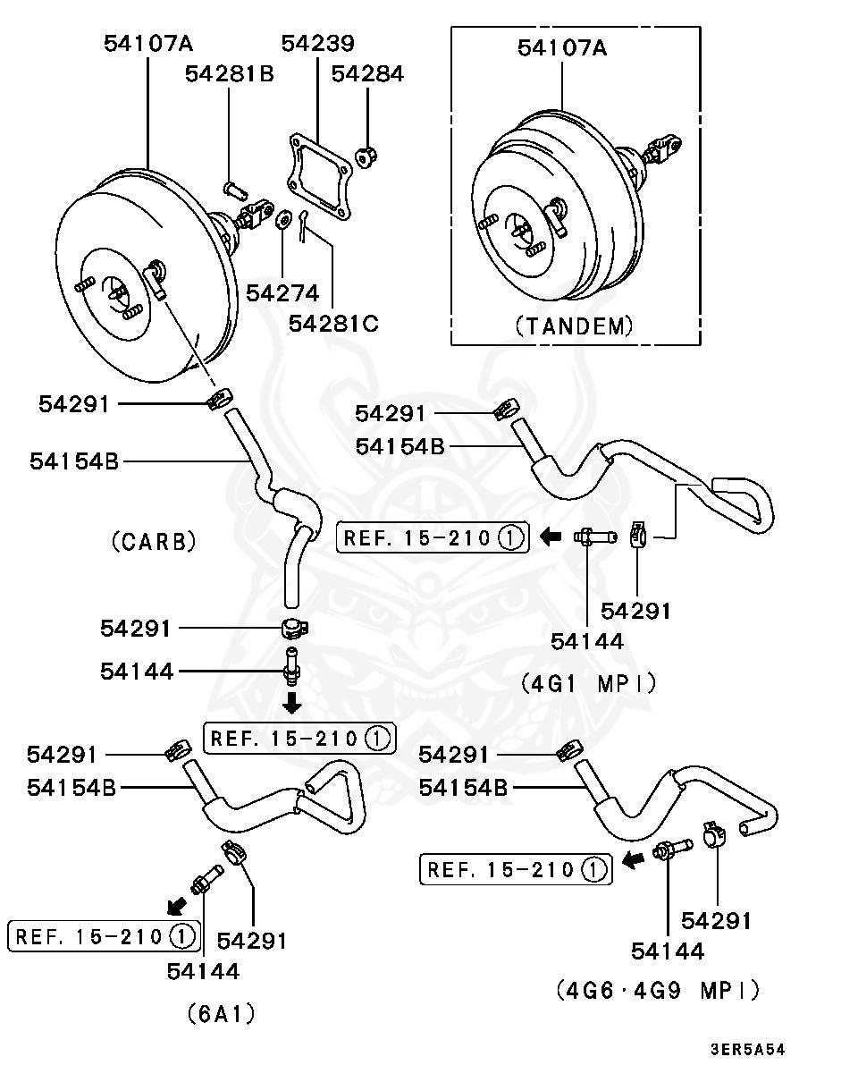 Mb238089 Mitsubishi Seal Brake Booster Body Nengun Performance