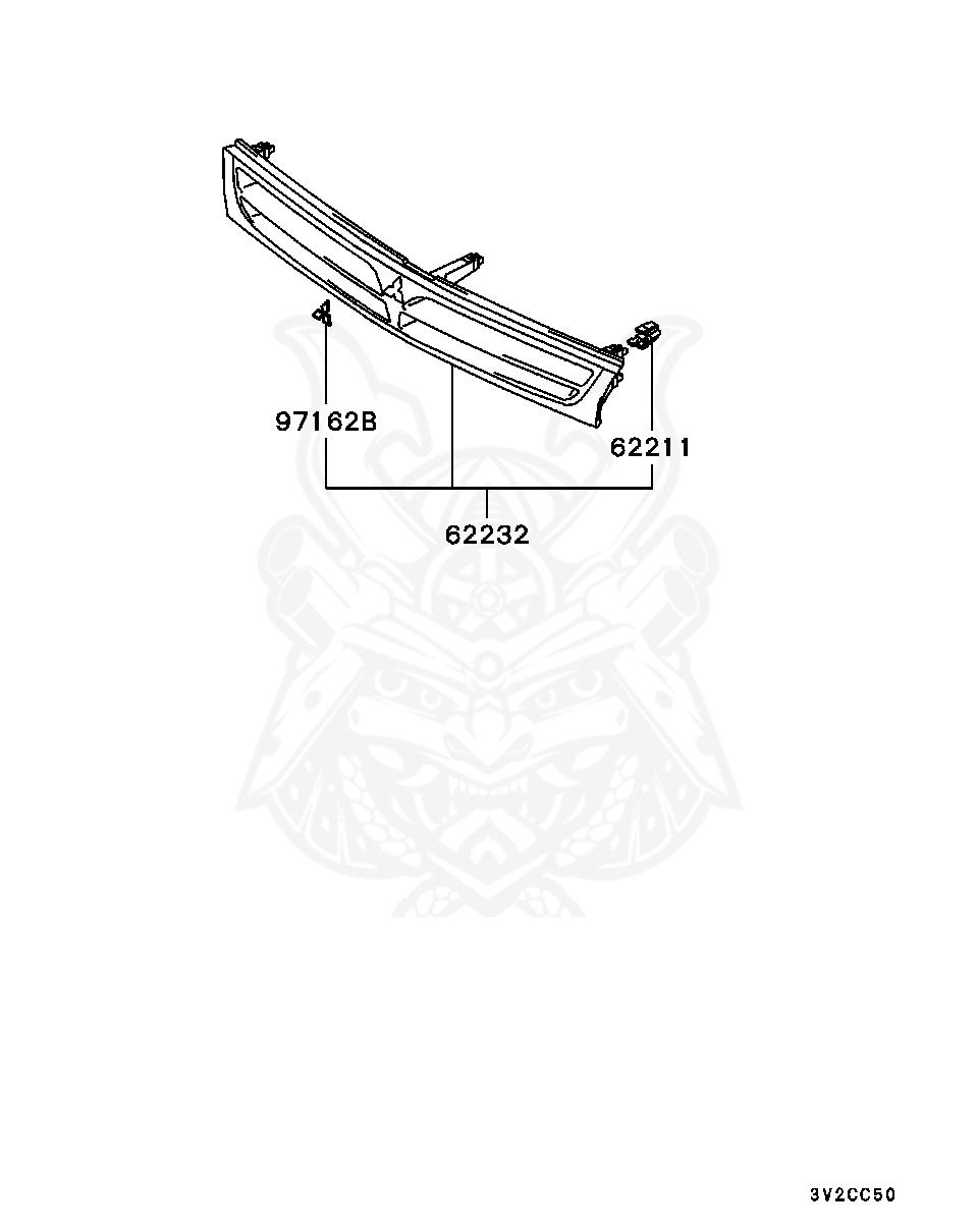 Mitsubishi - Clip, Radiator Grille