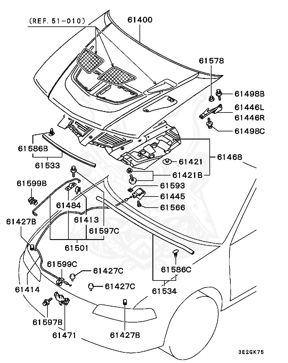 Mitsubishi - Clip, Back Door