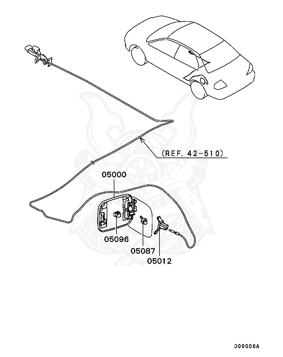 Mitsubishi - Hook, Fuel Filler Lid