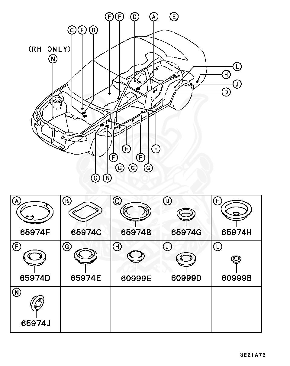 Mitsubishi - Plug, Floor