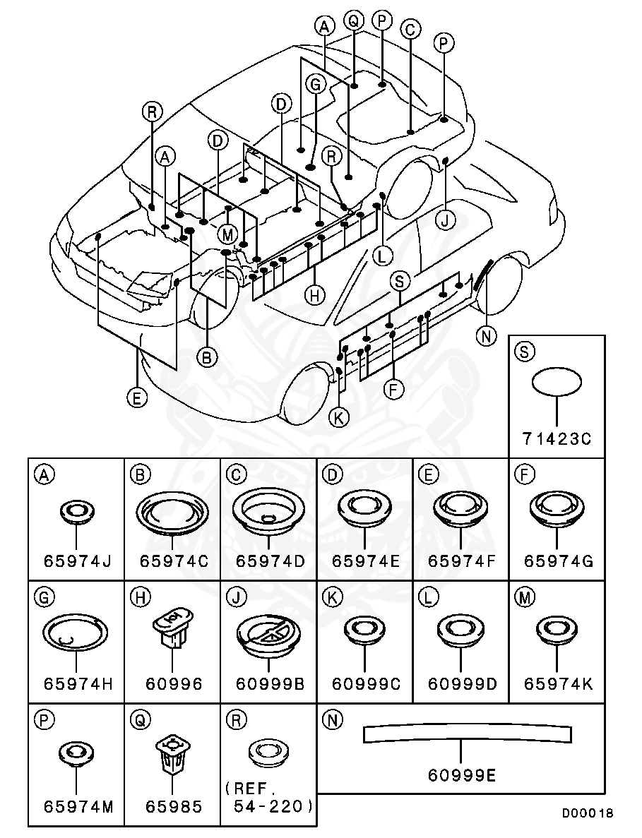 Mitsubishi - Plug, Body