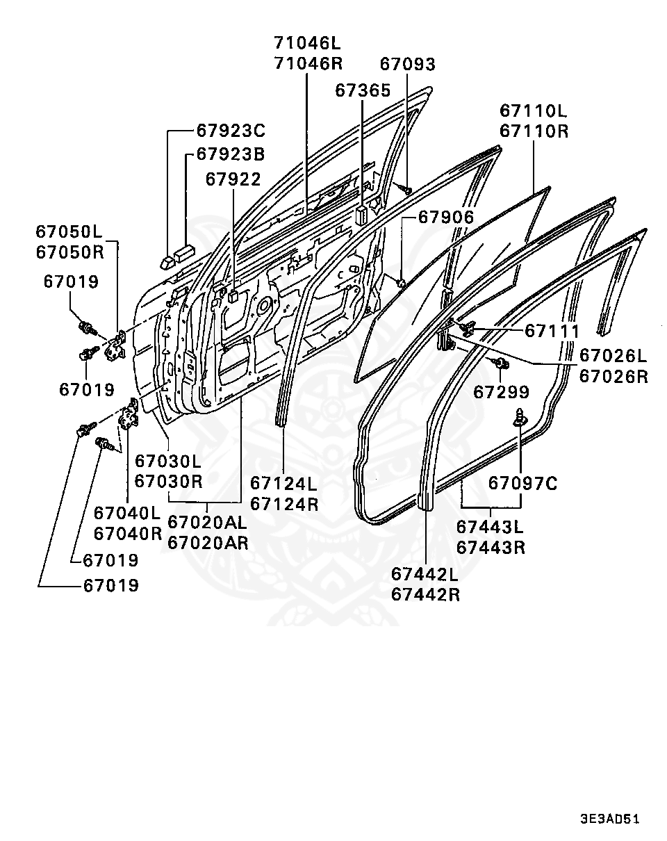 Mitsubishi - Screw, Fr Bumper