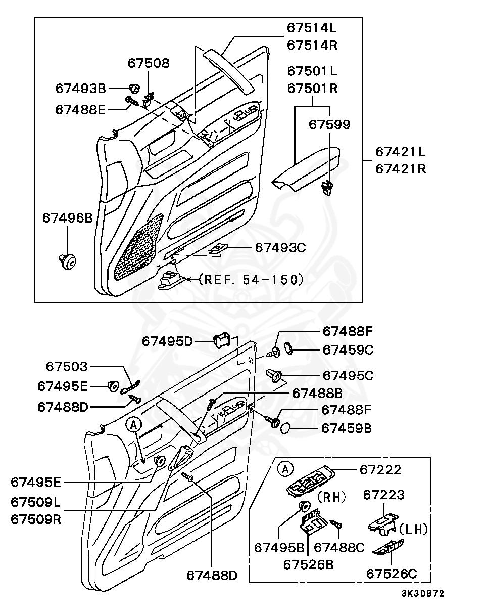 Mitsubishi - Grommet, Back Door Locking